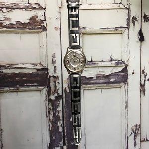 Vintage GUESS black silver wrist watch Japan 1996